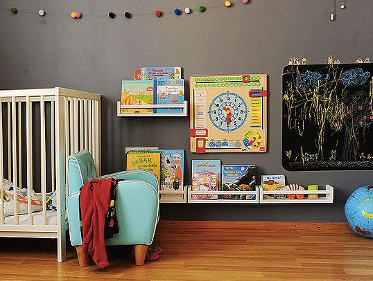 Sapete come trasformare delle semplici mensole da cucina - Mensole per camera bambini ...