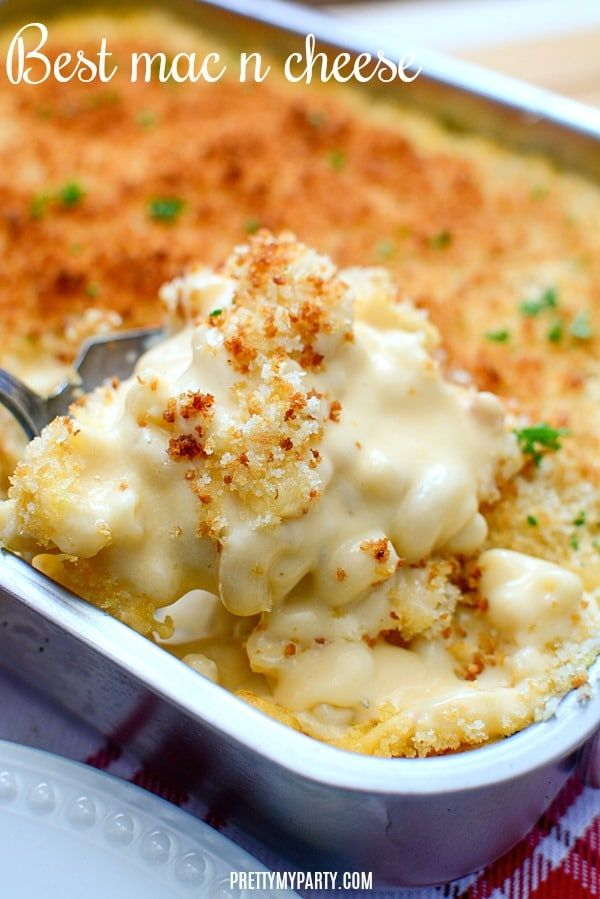 Homemade Baked Mac and Cheese Recipe - Pretty My Party - Party Ideas