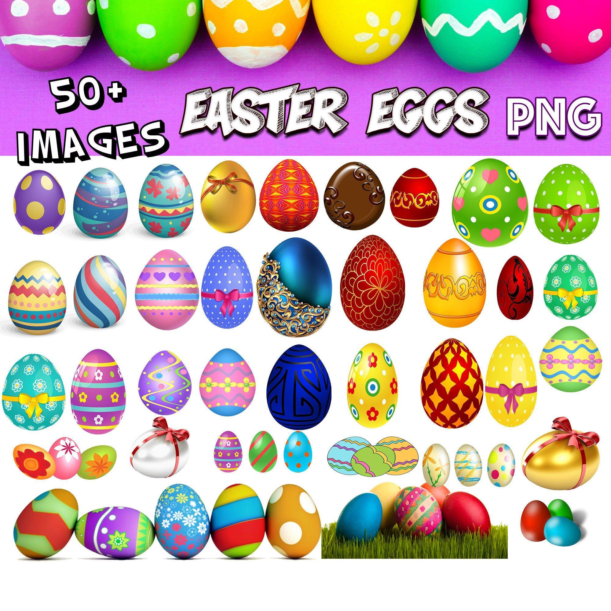 Easter Egg Transparent Background Set Png Clipart Digital Download Holidays Decorate Designs By Aliasnomdeplume On Etsy Clip Art Easter Eggs Etsy