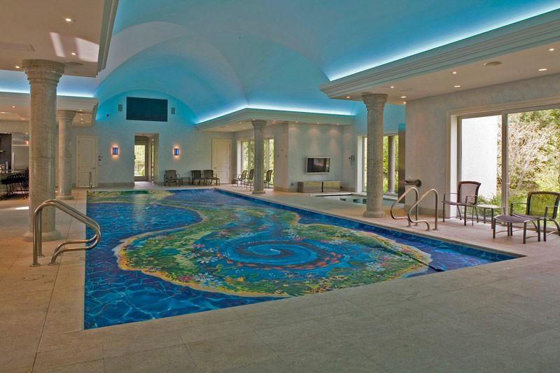 mansions with indoor pools indoor pool has a mechanical pool cover manufactured by pool - Big Houses With Pools Inside The House