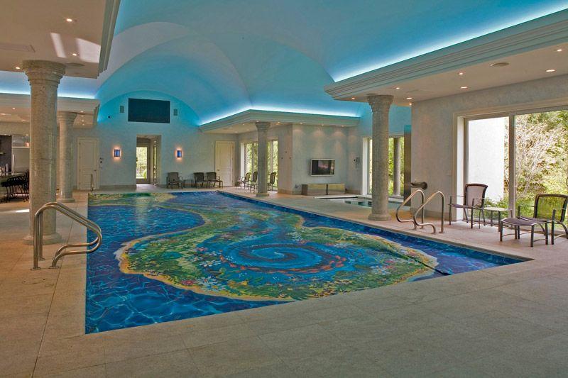 Scandinavian House Interior Design With Indoor Swimming