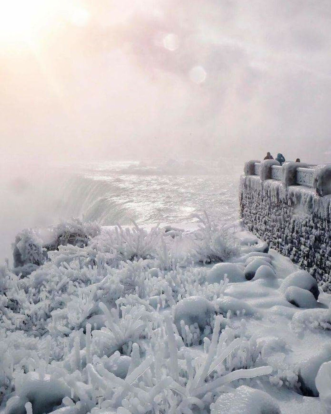 Frozen Niagra Falls | winter and ice | Pinterest
