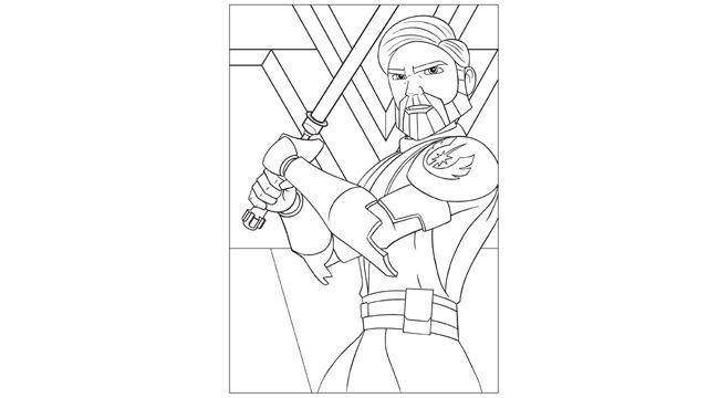 the clone wars obi wan kenobi coloring page starwarscom