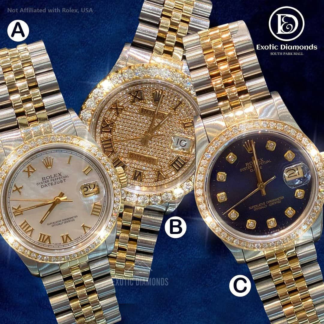 Comment below 👀... We carry large collection of rolex watches ! DM US OR Buy on our website 💻 www.exoticdiamondsa.com Call us ☎️ : +1 210 927 7787 We offer Financing and Layaway 36 months interest free financing available... @exoticfreeze @exoticdiamondsa #rolexwatch #rolex #watchesofinstagram #rolexsubmariner #rolexwatches #watches #rolexdatejust #watch #rolexdaytona #watchoftheday #watchfam #rolexaholics #rolexero #watchaddict #watchcollector #rolexlover #rolexwrist #rolexgmtmaster #daily