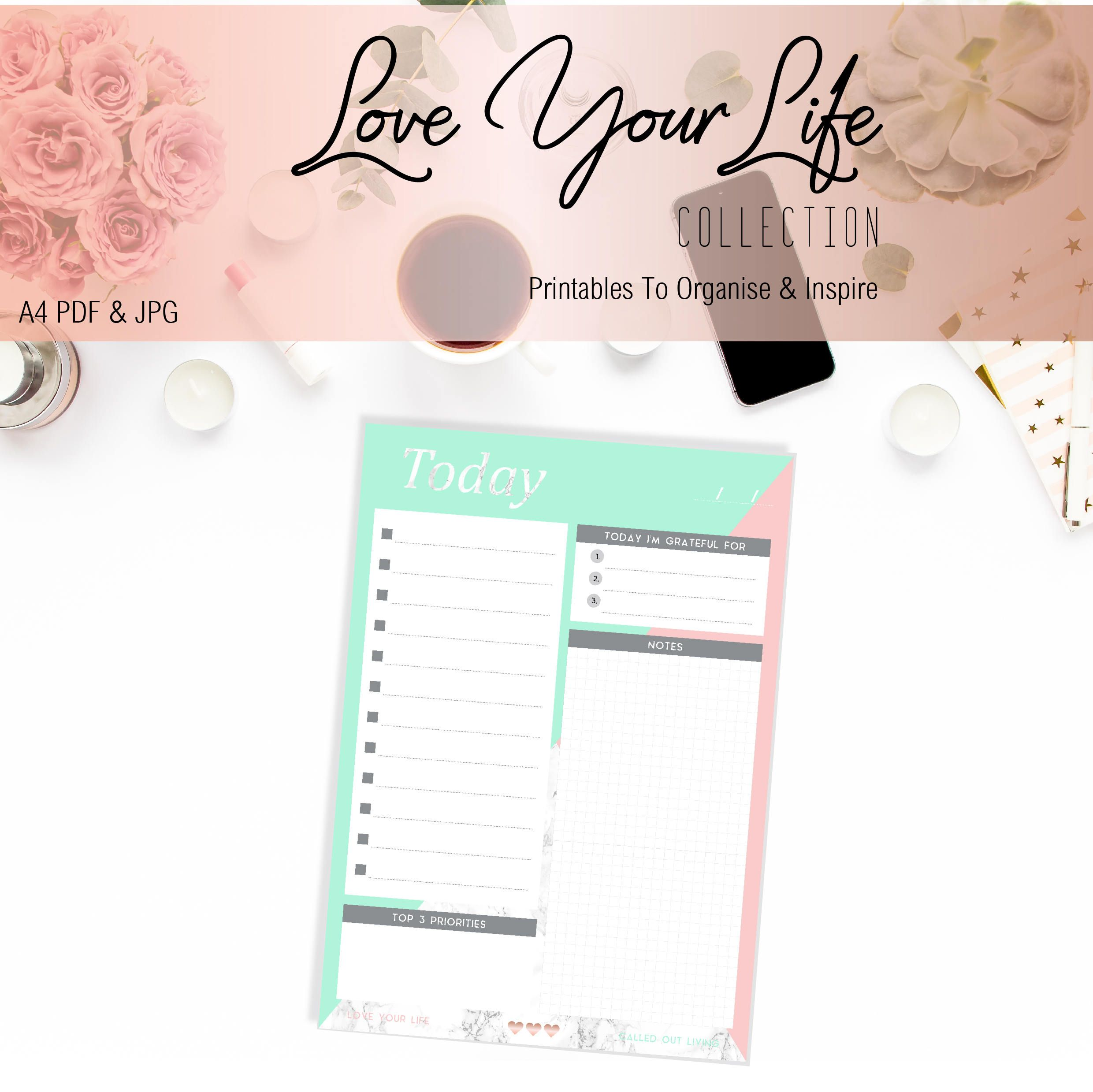 Printable To Do List  Digital Download  A Mint Marble And