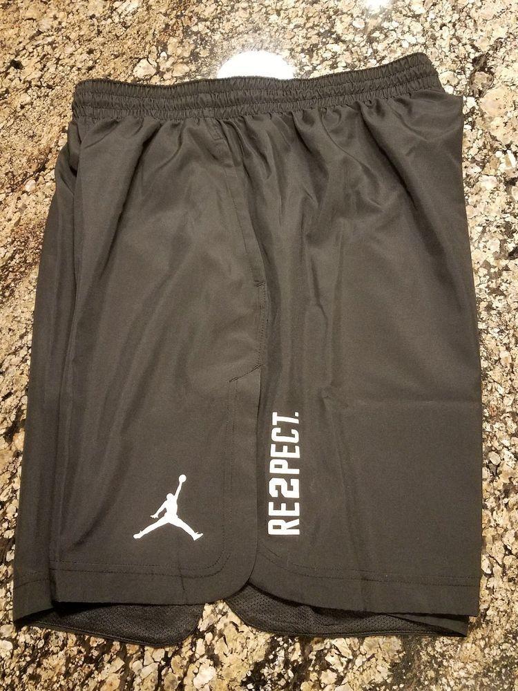452feb17325f Nike JORDAN Mens RE2PECT 23 ALPHA DRY SHORTS 897831 657 Black Sz XL  Nike   Shorts