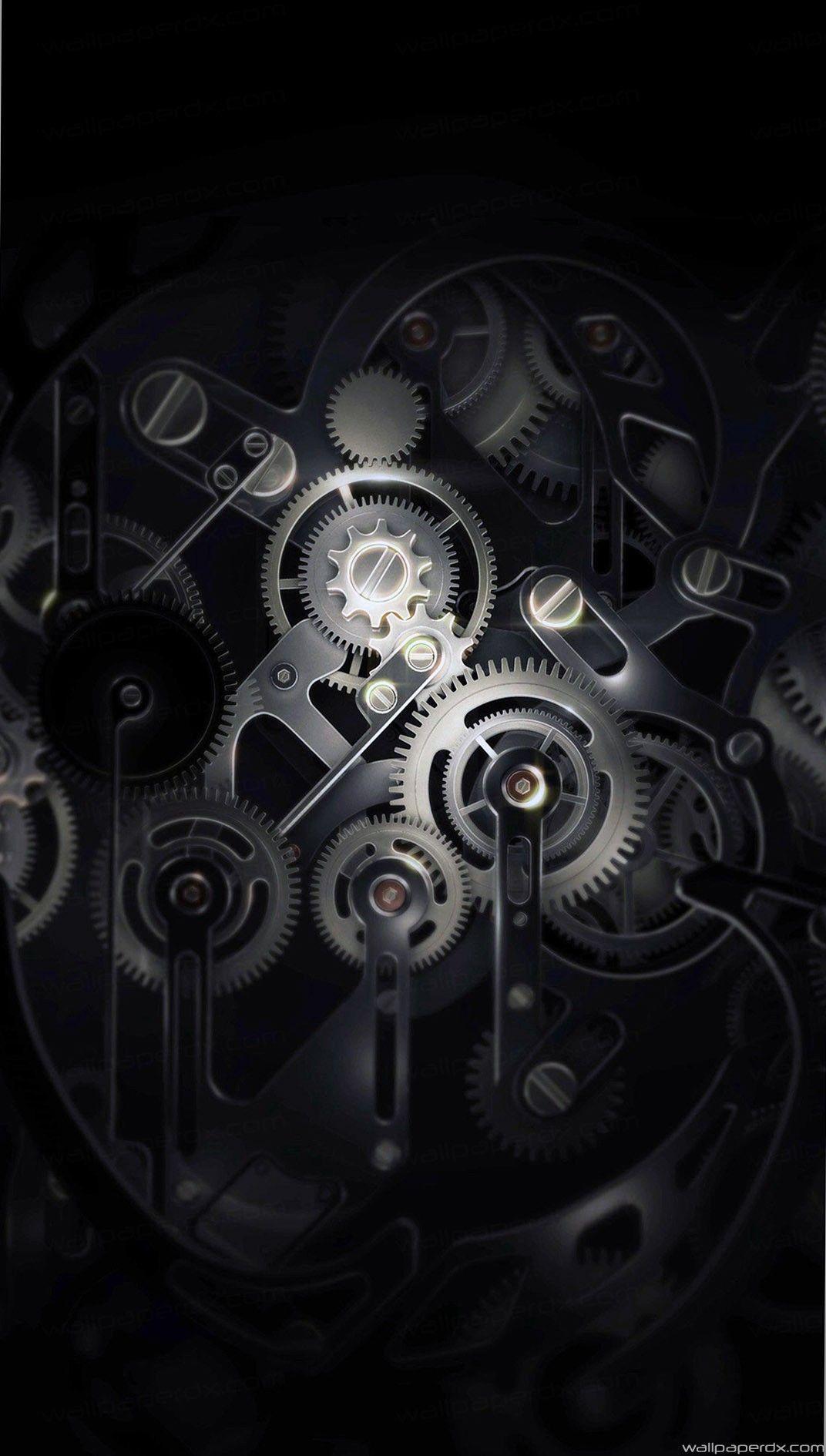 Chrome Gears Wallpaper | Clock wallpaper, Cellphone ...