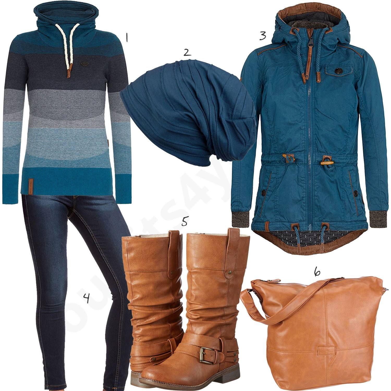 Warmes Winteroutfit mit Naketano Pullover und Jacke | Mode