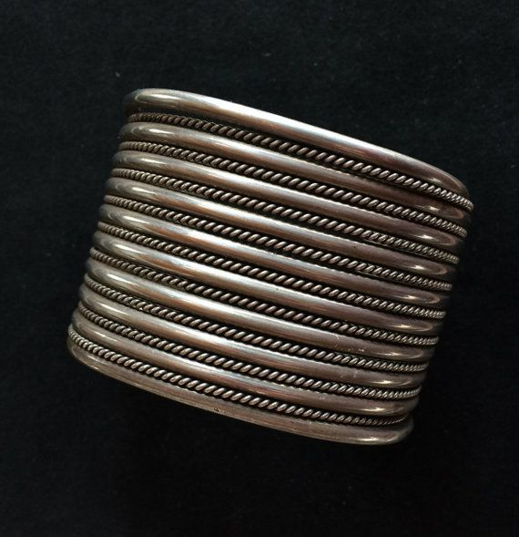 Excellent Vintage Sterling Silver Cuff Bracelet by MudPonyTraders