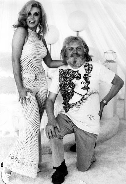 1975: Ken Russell and Ann Margaret on the set of Tommy.  Hmmm, wasn't she playing Lindsey Lohan's mom in the movie? :))