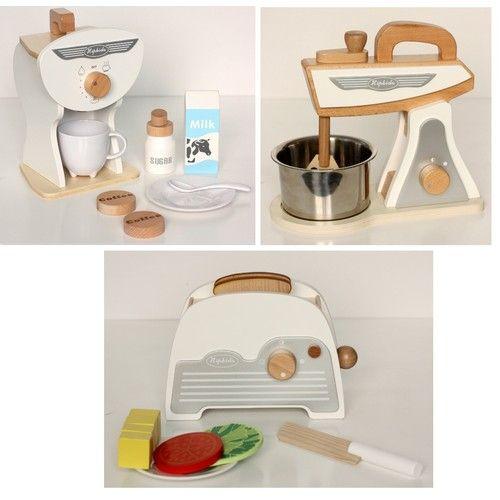 Hip Kids White Retro Toy Kitchen Accessories Set 3pk Kids