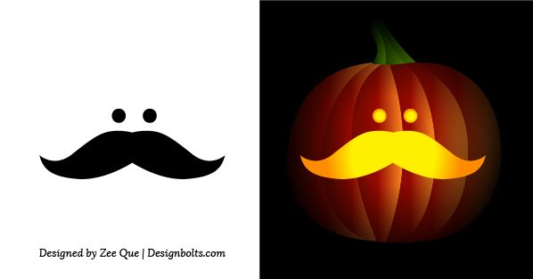 Free simple easy pumpkin carving stencils patterns for Easy pumpkin painting patterns