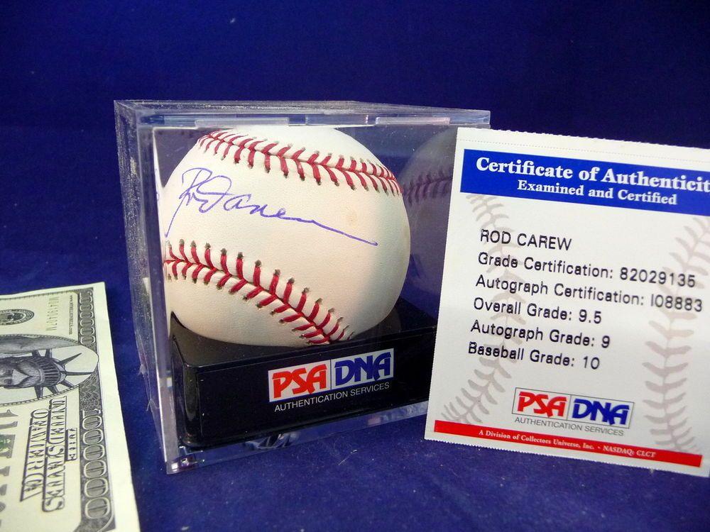 ROD CAREW Baseball Autographed Signed PSA DNA Graded