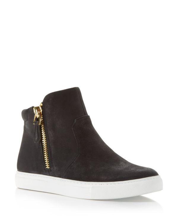 Kenneth Cole Kiera Side Zip Slip On High Top Sneakers