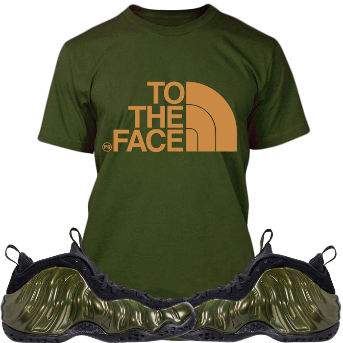 eb3860ddd3732 ... Legion Green Foamposites Sneaker Tees Shirts Match - TO THE FACE ...