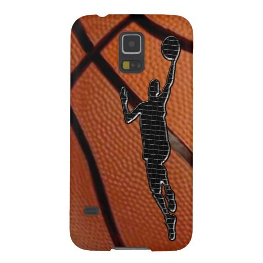 Galaxy 5S Cases, Basketball Phone Cases. Basketball CASES LINK:  http://www.zazzle.com/littlelindapinda/gifts?cg=196258328220290872&rf=238147997806552929*  ALL Basketball Stuff LINK: http://www.zazzle.com/littlelindapinda/gifts?cg=196808750908670951&rf=238147997806552929*  Cool up close basketball with a Black Silhouette Techno Basketball Player jumping in a layup shot.  ALL Little Linda Pinda Designs and Gifts:  http://www.Zazzle.com/LittleLindaPinda*/  See Matching basketball cases.
