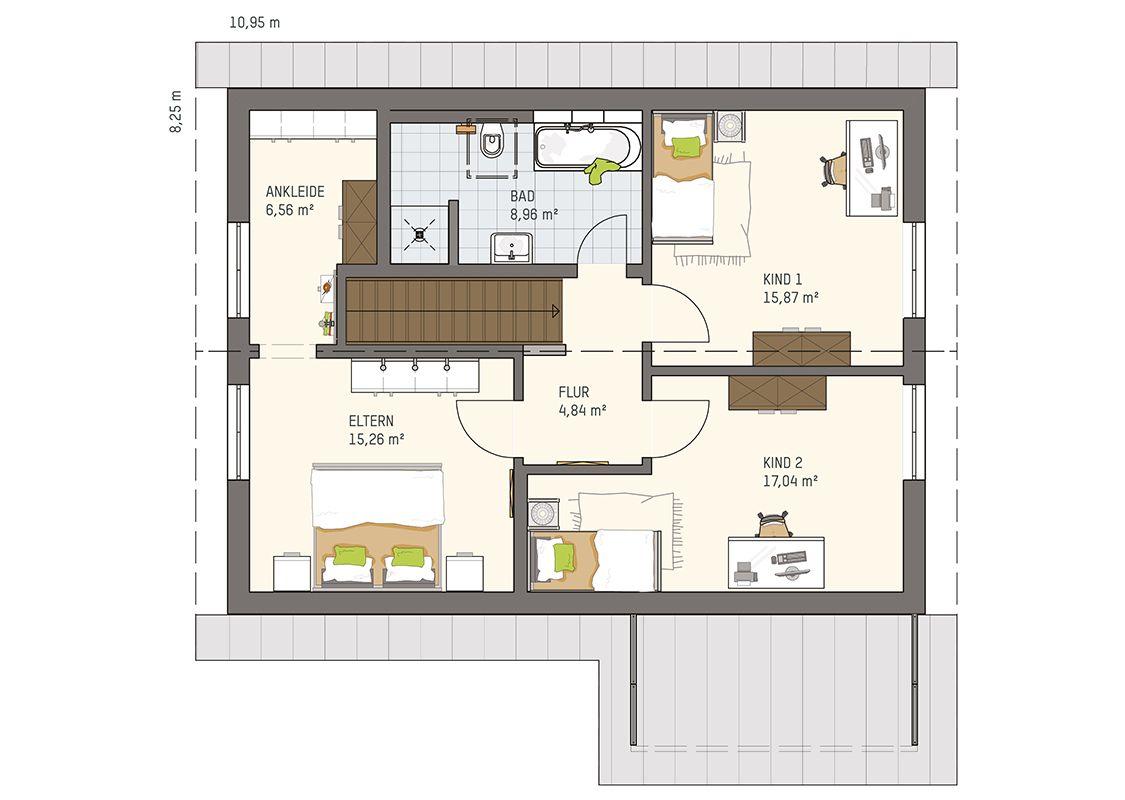 Preisbeispiel Neo 211 Sonderedition Dachgeschoss Fingerhaus Haus Fertighaus Bauen