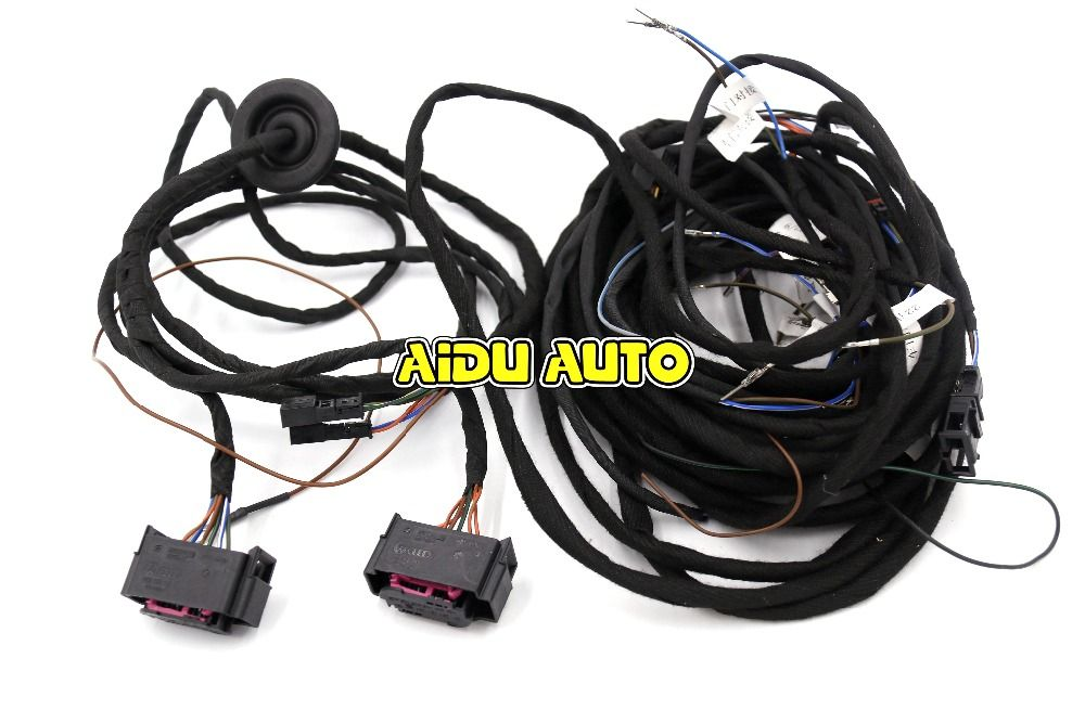 33fd4377e6eccf597c298d071f54fbf4 side assist wire cable harness for vw audi a6 c7 car electronics Wire Harness Assembly at crackthecode.co