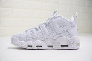 the best attitude e6aa6 b9504 Nike Air More Uptempo Triple White 921948 100 Mens Womens Running Shoes