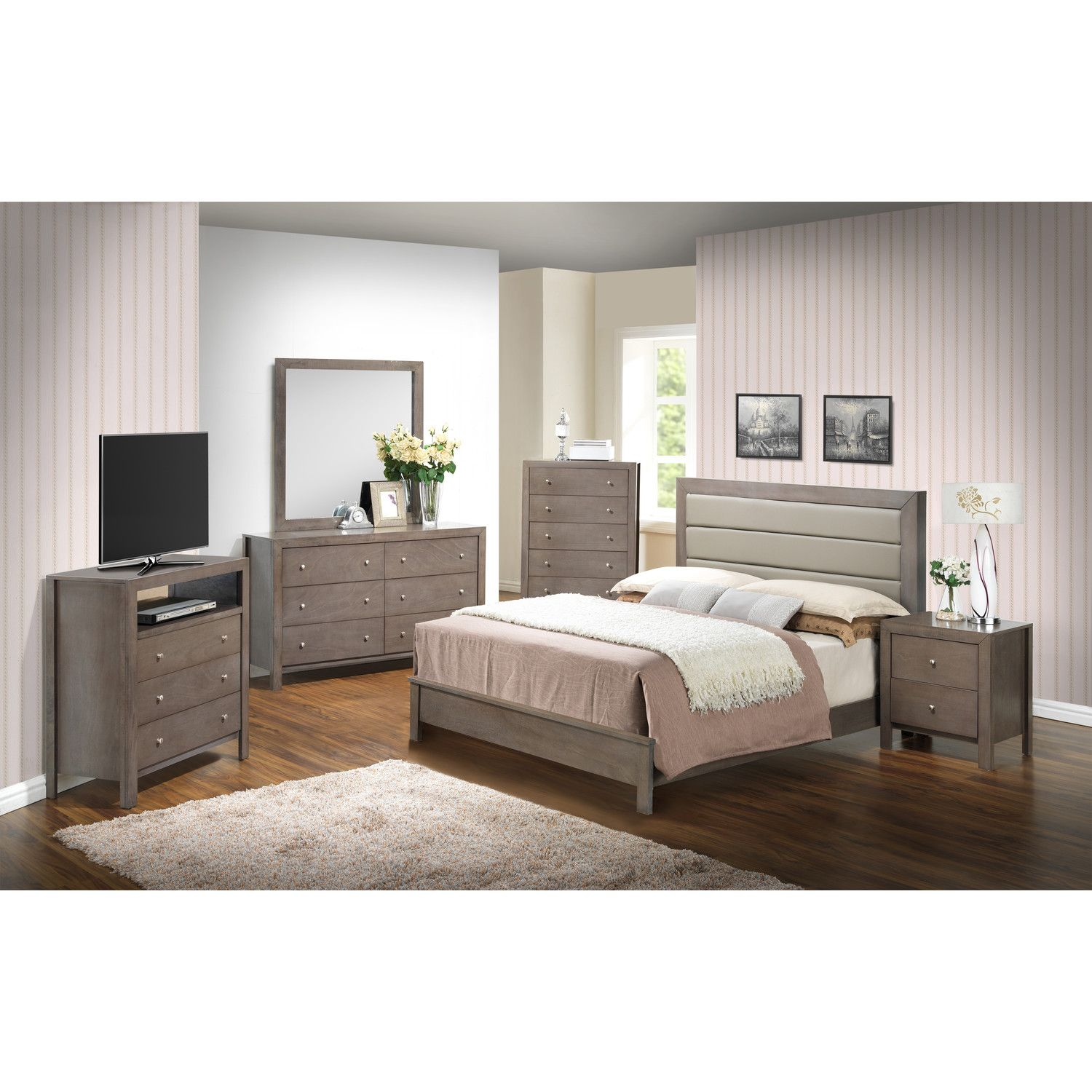 Glory Furniture Panel Customizable Bedroom Set U0026 Reviews | Wayfair