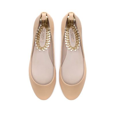 BALLERINA WITH ANKLE STRAP - Shoes - Woman - ZARA Canada  $49.99