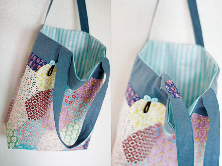 Easy Shopper Tote Bag Sewing A Step-by-Step Tutorial with Photos ...