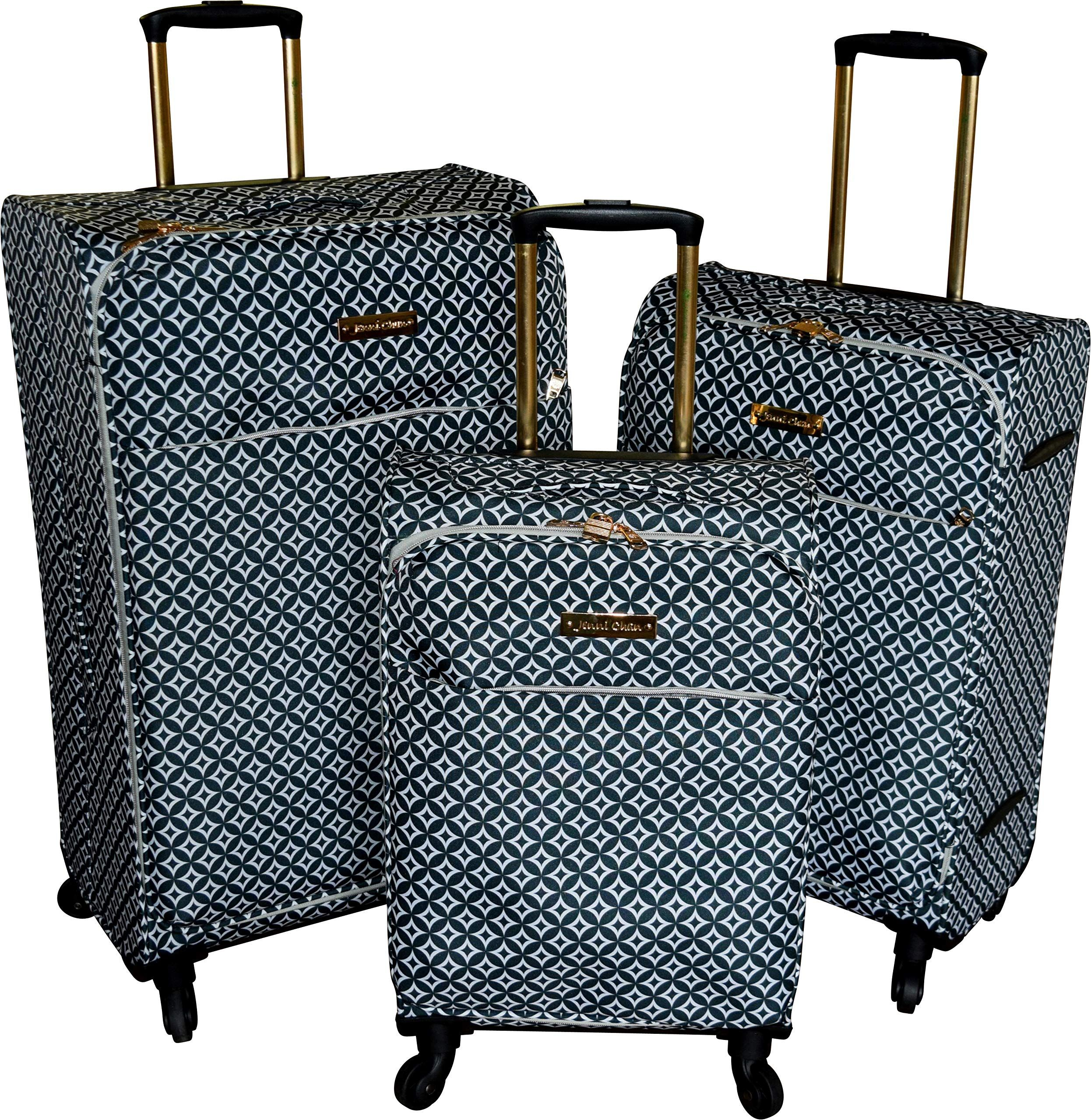 2618a5efe58e Jenni Chan Snow Flake Collection Lightweight 3-PC Spinner Luggage ...