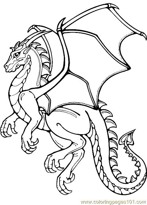 Printable Dragon Coloring Pages Freecoloringpage