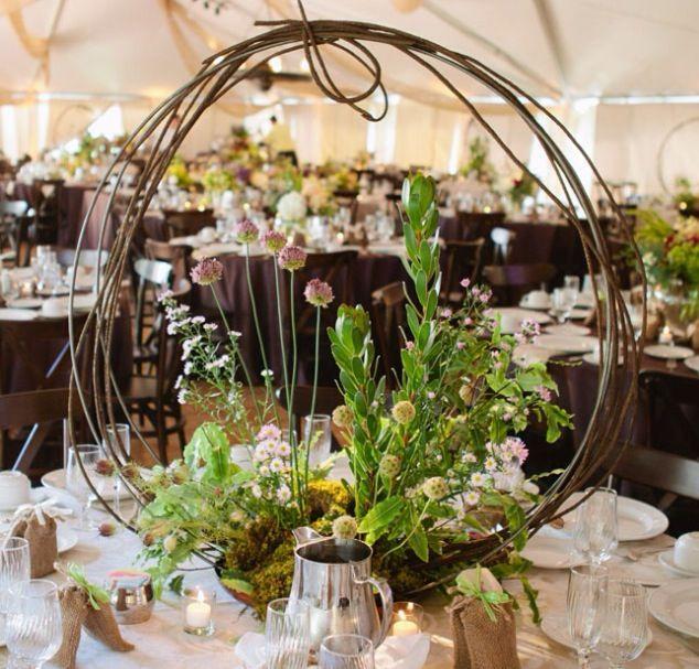 Twig Circle Rustic Wedding Centerpieces Wedding Centerpieces Rustic Centerpieces