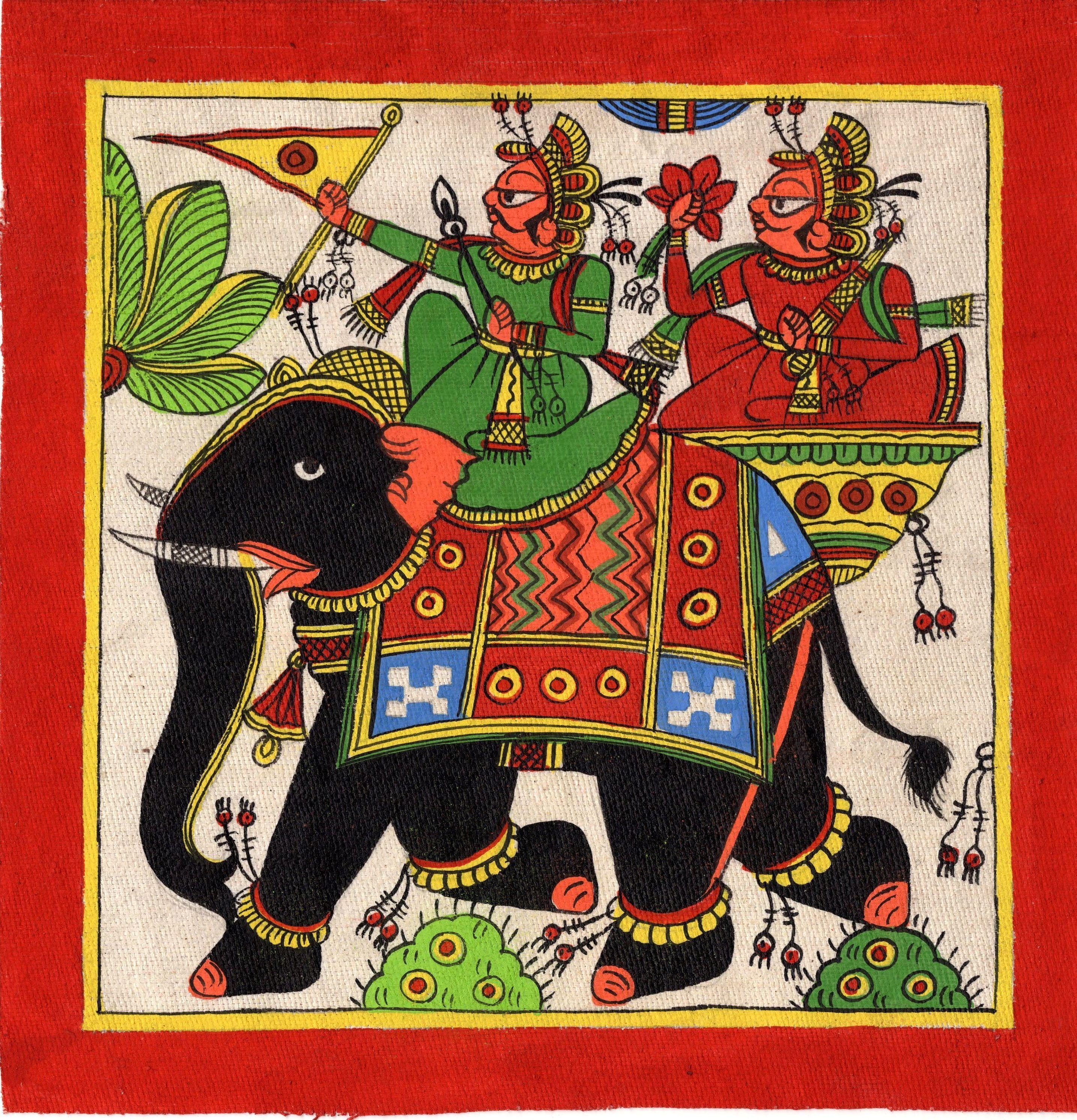 Rajasthani Phad Painting Handmade Indian Folk Miniature ...