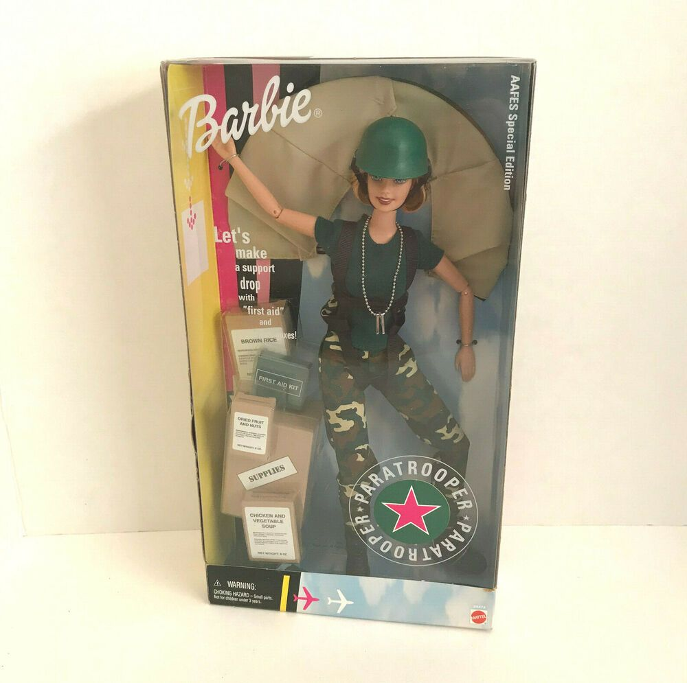 Barbie Paratrooper Aafes Special Edition Mattel 29474 Mattel In 2020 Barbie Collector Dolls Toys R Us Kids Princess Barbie Dolls