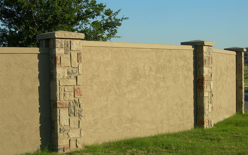 Precast Concrete Fencing And Walls Surrounding Gated Residential Communities And Residential Developments Apartment Modern Fence Front Yard Fence Wooden Fence