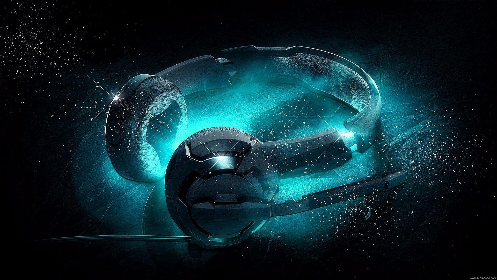 Blue Headphones 1920x1080 Headphones Art Music Wallpaper