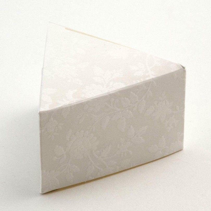 10 large white embossed cake boxes x cake slice boxes at
