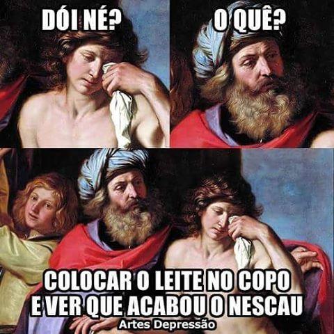 Tristeza profunda (A Volta do Filho Pródigo - Guercino) #ArtesDepressão #AD # #memes #humor #artegram #painting #art #arts #artist #arte #artoftheday #artgallery #instaquote #instafrases #quoteoftheday #artwork #instaart #visualarts #oldmasters #masterpiece #arthistory #artlovers #dailyart #museum #artesdepressao #guercino