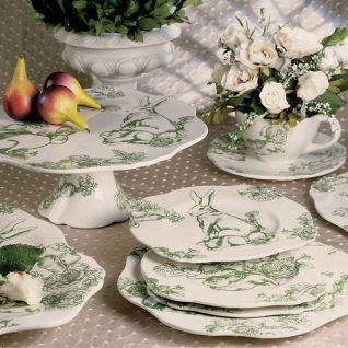 Perfect for use at Easter or year round the adorable Bunny Toile dinnerware collection sets a stylish garden table. The Bunny Toile dinnerware is crafted ... & lenox christmas dining room table escapes pinterest - Google Search ...