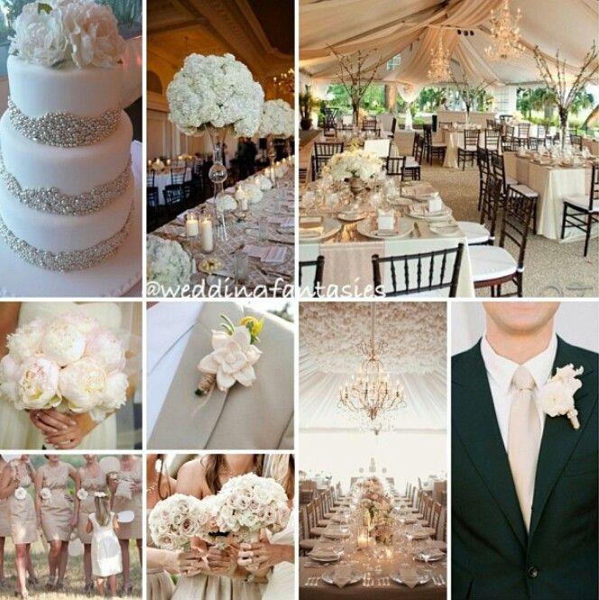 beige and brown wedding -#main