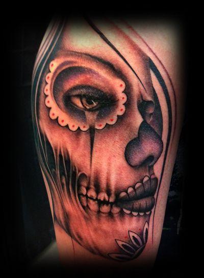 creepy but the dopest sugar skull I've seen.