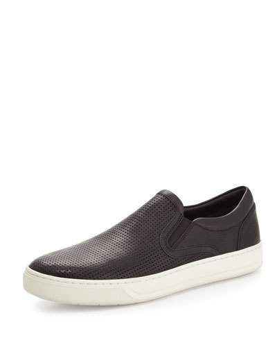 Ace Perforated Leather Skater Sneakers
