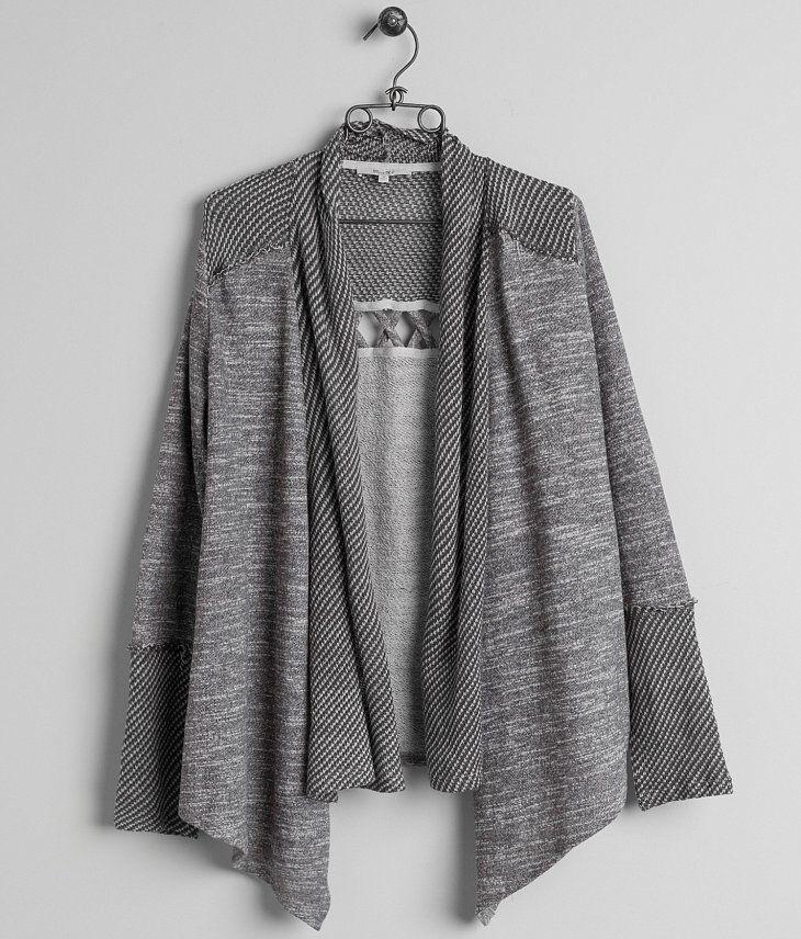 70f4fcd0be Miss Me Open Weave Cardigan Sweatshirt - Women s Cardigans in ...