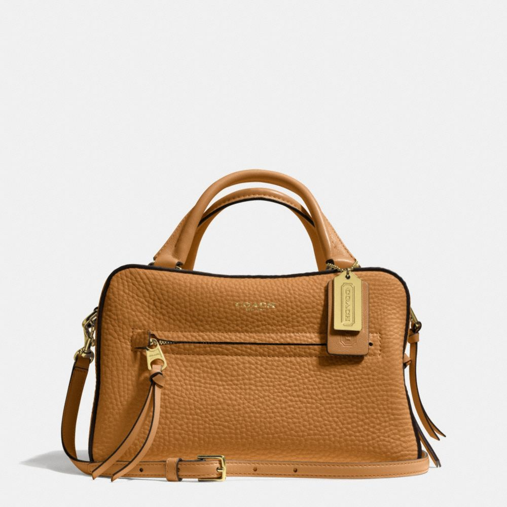 The Bleecker Small Toaster Satchel In Pebbled Leather from Coach SALE $209