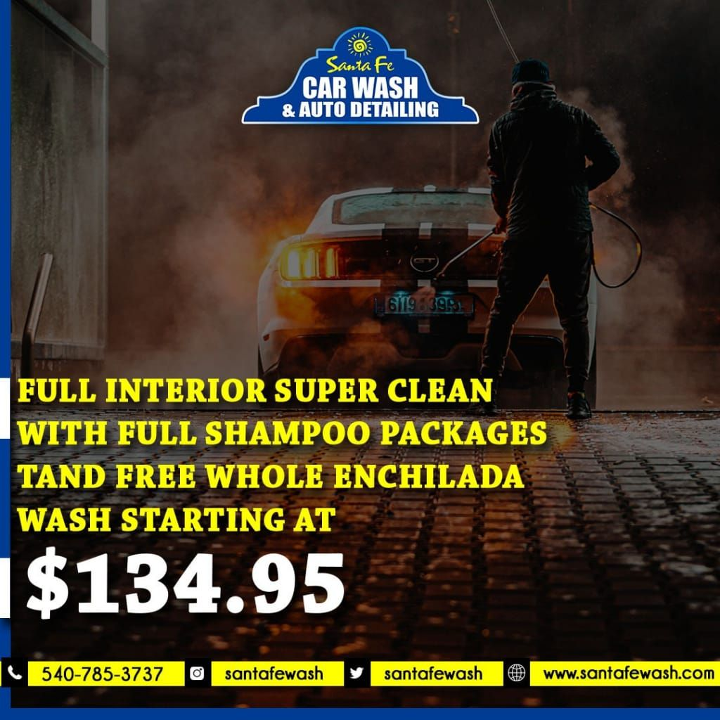 Don T Just Wash Your Car Super Shine It Take Your Car To Santafewash And Have Affordable Services Wit In 2020 Car Wash Car Wash Services Shampoo Packaging