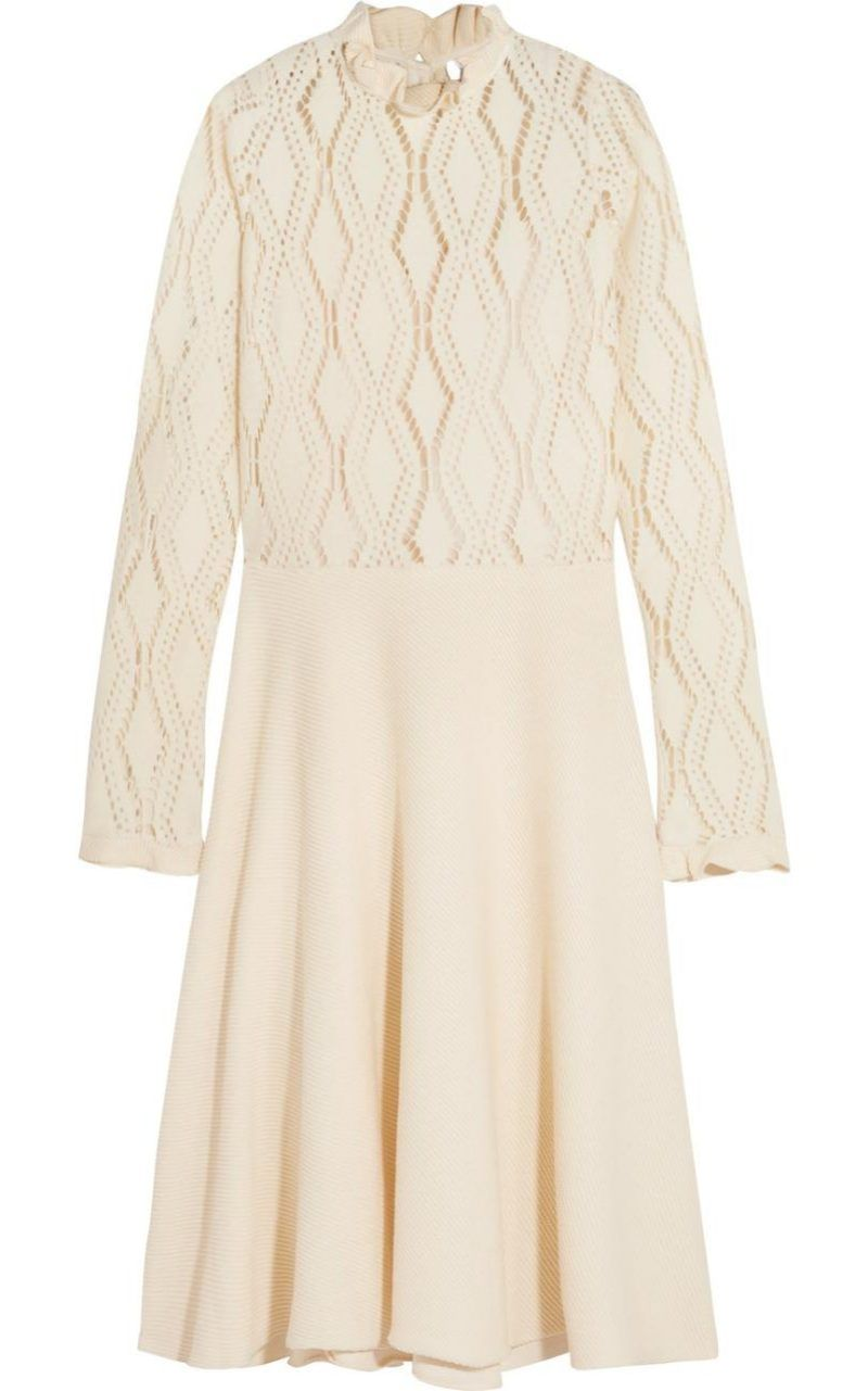 Dress for Women, Evening Cocktail Party On Sale, See By Chloe, Beige, Cotton, 2017, 6 8 Chlo