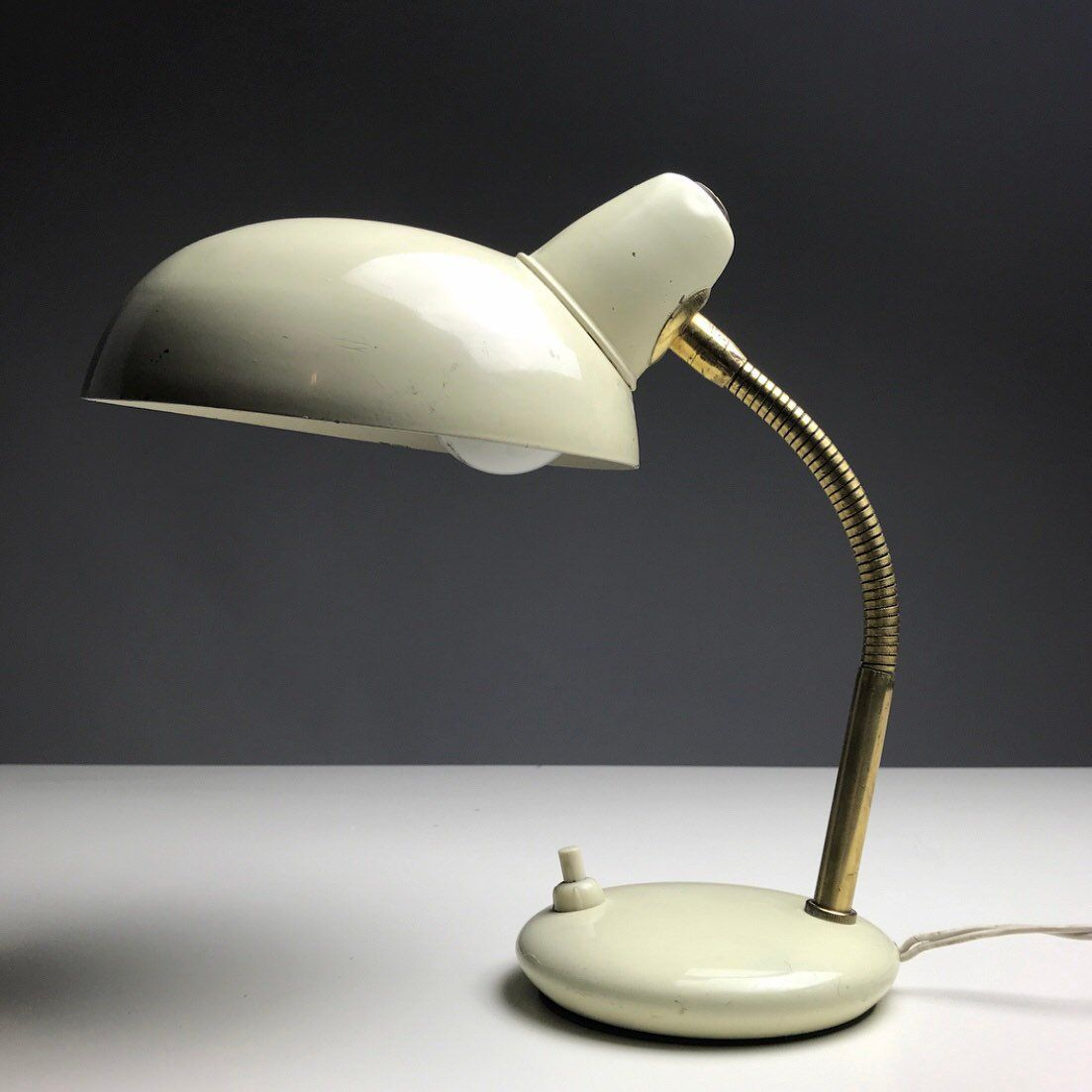 Beautiful Classic Italian Table Lamp From 1950s Mid Century Modern Bauhaus Inspired Industrial Desk Lamp Made In Italy Lamp Industrial Desk Lamp Table Lamp