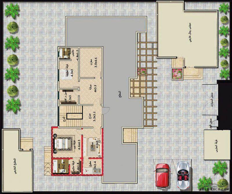 مخطط الفيلا رقم التصميم Z3 من مبادرة بيتى 822 متر مربع Square House Plans House Plans House Design