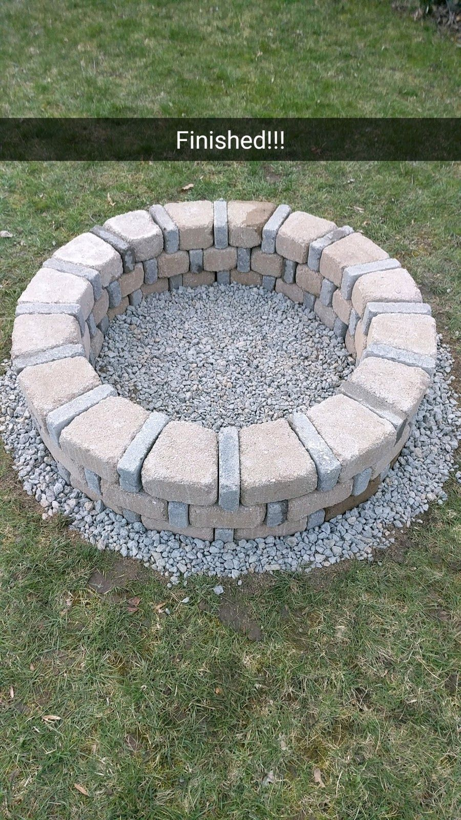 1b22b3070f9d My mother asked me to build her a brick fire pit that she had found on  Pinterest. I love DIY so I said yes and immediately started researchi.