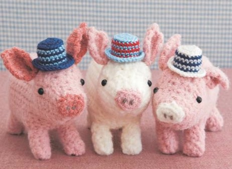 Cute Crochet Critters Pigs Are On Trend Crochetholic