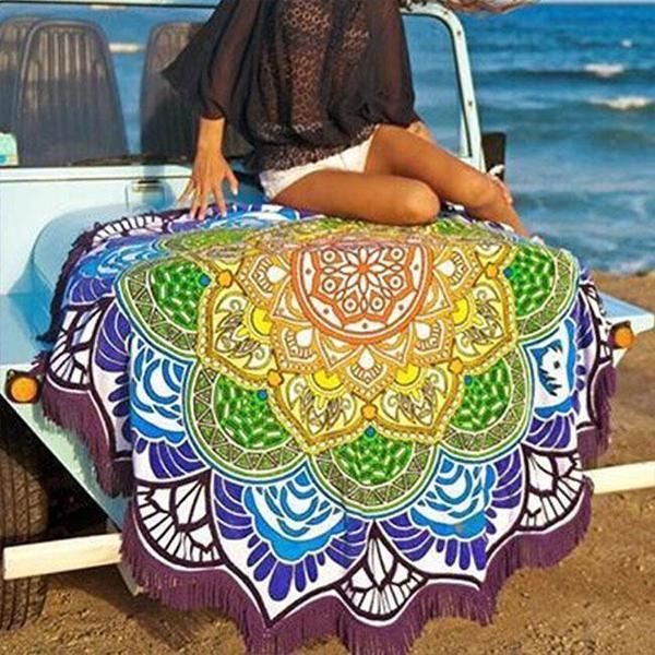 Mandala lotus flower shape yoga beach blanket tattoo mandala mandala lotus flower shape yoga beach blanket mightylinksfo