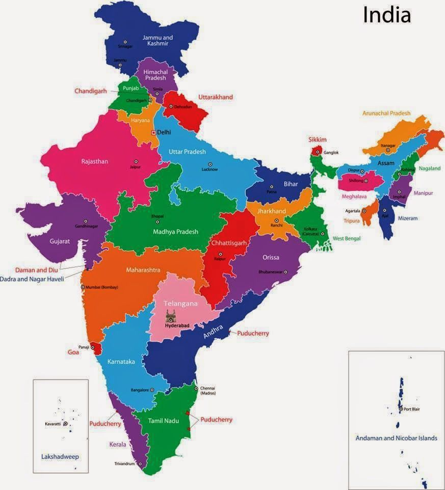 Pin By Mrr Raman On Wall Papers India Map States Capitals Union