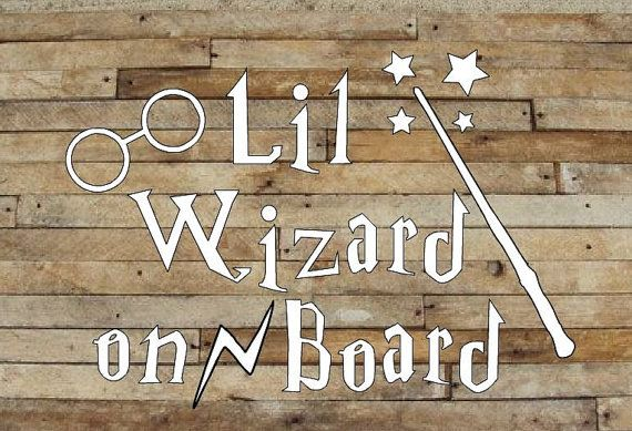 Hey, I found this really awesome Etsy listing at https://www.etsy.com/listing/250034018/little-wizard-on-board-car-decal-harry